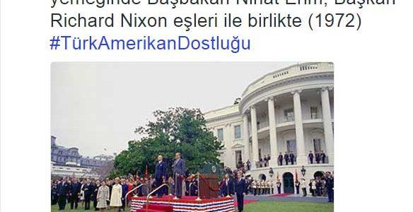 Tarihe Not : ABD Büyükelçiliği'nden Nihat Erim fotoğrafı