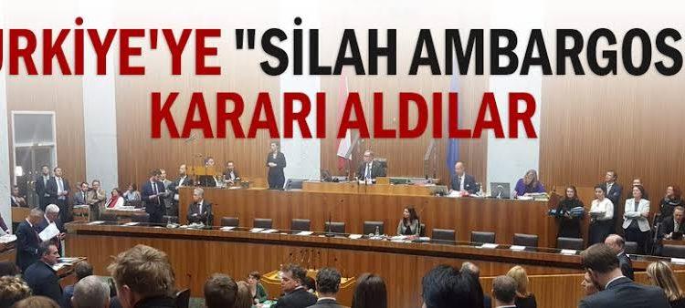 Avrupa, Türkiye'ye Silah Ambargosu Kararını Niçin Aldı?
